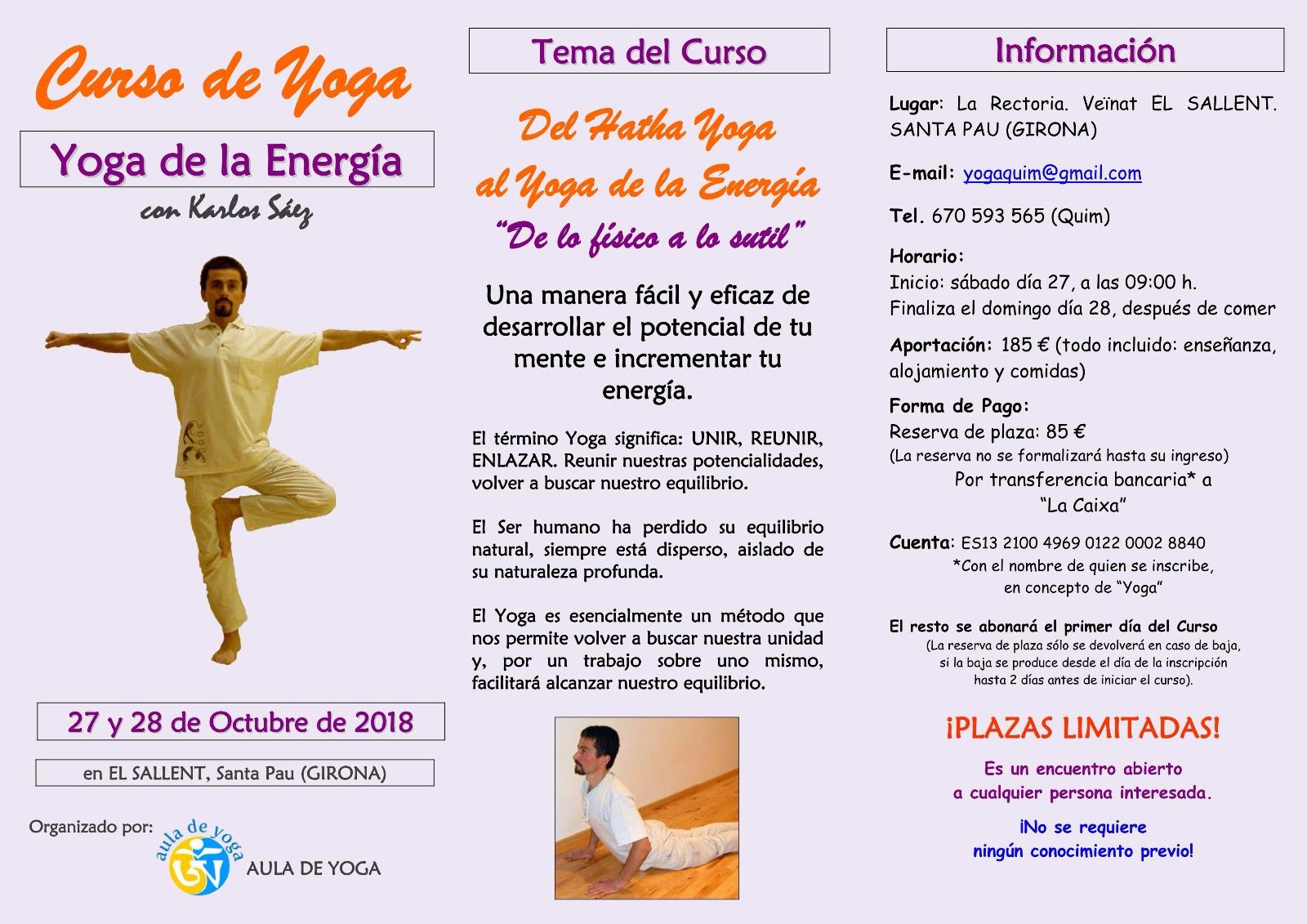 Yoga de la Energía - El Sallent - @ La Rectoría